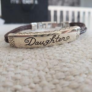 Brighton leather Daughter bracelet